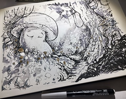INKTOBER 2017 - illustrations selected from sketchbook