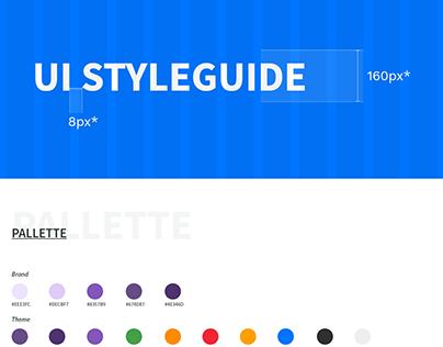 UI Styleguide WEB - V 1.0