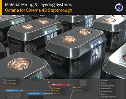 Mat Mixing &Layering Systems in Octane: C4D Stepthrough