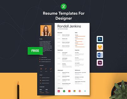 Free Resume Template For Designer