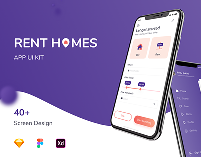Rent Home Mobile UI KIT