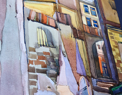 Architecture watercolor vol.1.Lviv