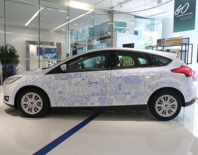 Ford Focus Live Drawing