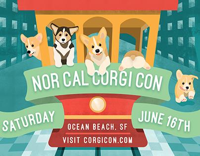 Corgi Con Poster
