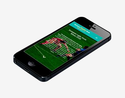 UI design & web layout Rubgy Bilbao 2018