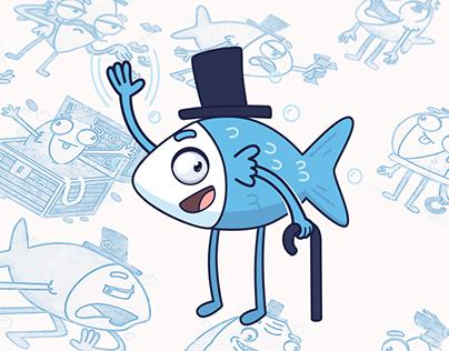 mr. Blue Fish - STICKER PACK