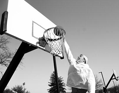 B&W Basketball Series