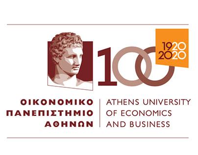 100 χρόνια Οικονομικό Πανεπιστήμιο Branding.