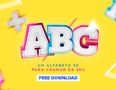 Alfabeto 3D Free Download
