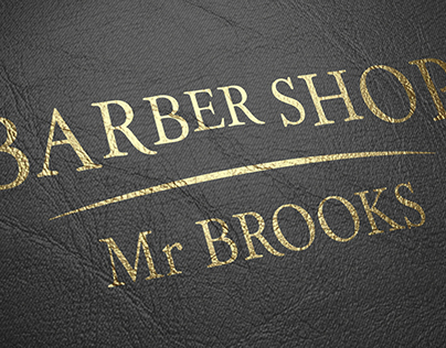 BarberShop Mr Brooks Logotype