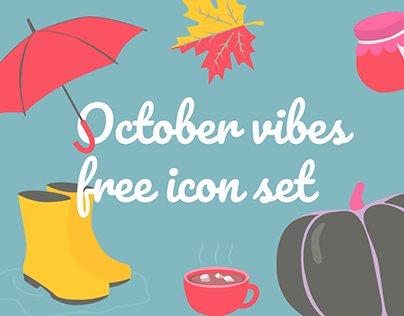 Free Download October Vibes Flat Icon Set