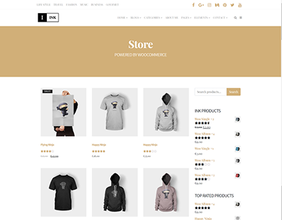 Shop Right - Ink WordPress Theme