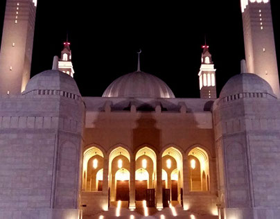Architectural Beauty at Sultan Qaboos Mosque