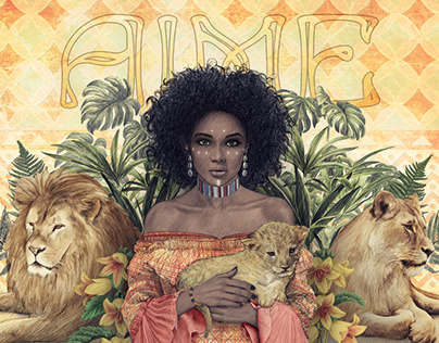 "Illustration AIME BIJOUX - collection ""Afrika"""
