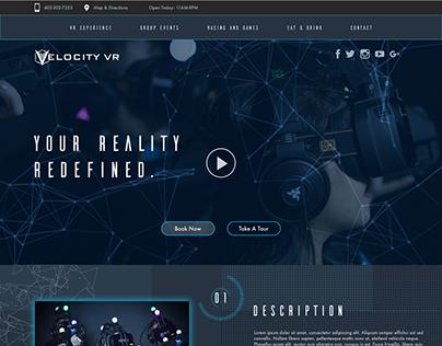 Velocity VR Web Design
