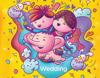 Indian Kawaii - Wedding Invitation Suite