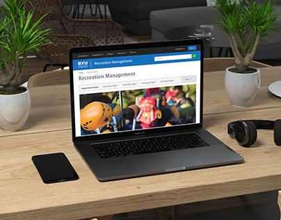 BYU-Idaho Recreation Management Website