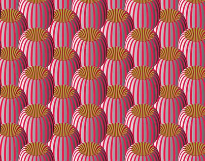 Pattern design, All-over digital print on fine cotton