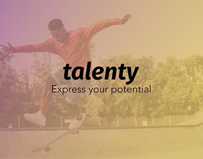 Talenty, logo design and brand identity