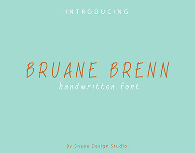 Bruane Brenn - Typeface