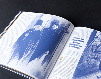Watercolor illustrations for Kinemalismus Film Magazine