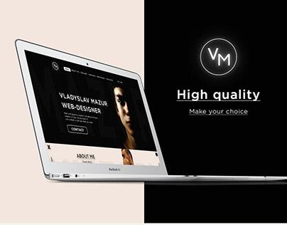 Web-design, personal website.