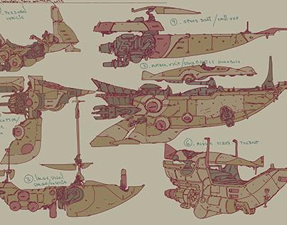 Concept Ship Sketches