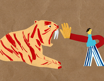 Editorial illustration about disobeying tiger parents