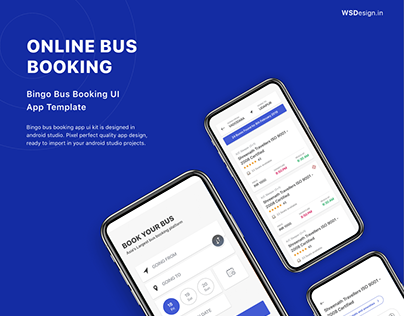 Online bus booking UI KIT