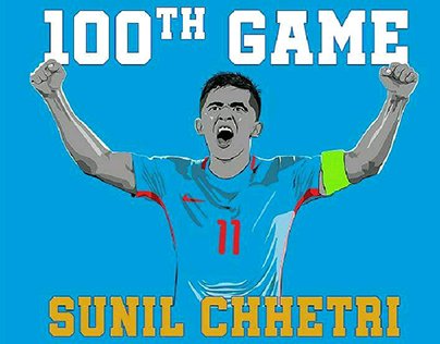 Sunil Chhetri 100th game
