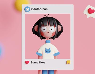 Self-portrait in Blender
