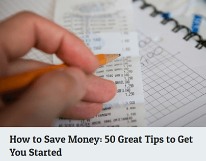 How to Save Money: 50 Great Tips