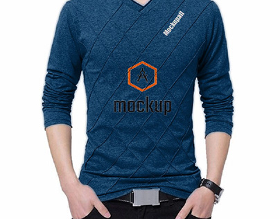 Slim Fit Custom T-shirt Crease Design Long Stylish