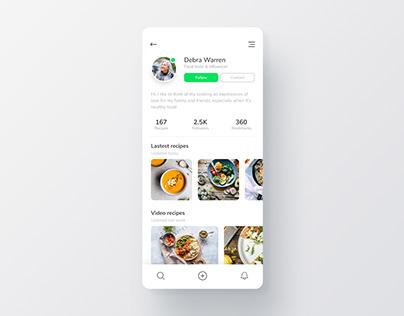 Daily UI - Food App User Profile