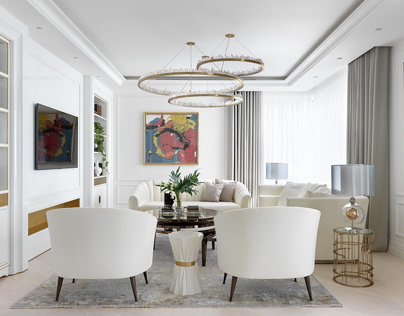 Elegance white apartment