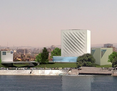 Bookcube, The new national library in Cairo.
