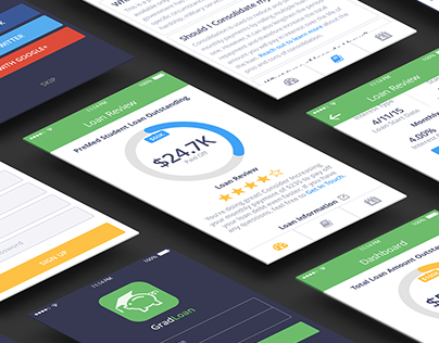 Gradloan - Student Loan UX/UI Design