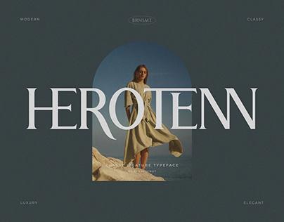 Herotenn - Stylish Ligature Serif