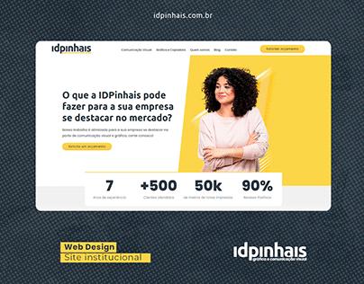 Web Site Design IDPinhais Comunicação Visual - UI / WP