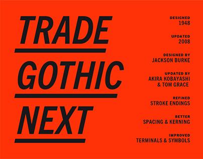 Monotype Trade Gothic Next Specimen
