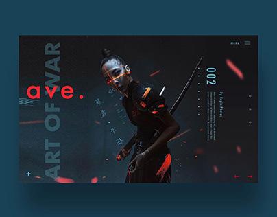 Art Of War Ui/Ux & Poster Design