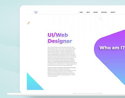 My One Page Resume/Portfolio Website