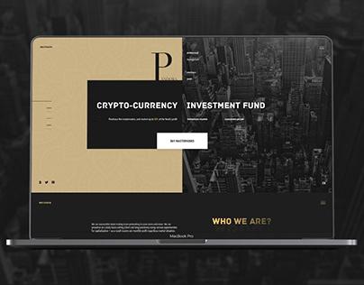 Pandora investment fund. Landing page.