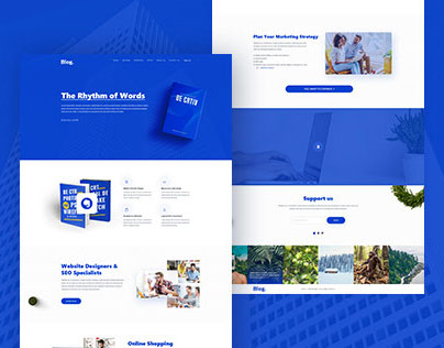 Blog Consultant Home page concept