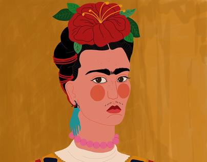 Frida Kahlo - Digital Illustration