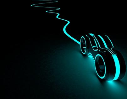Glowing Tech Bike in 2K & 4k :)