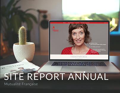 site annual report mutualité française