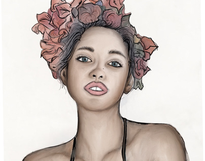 random digital portrait