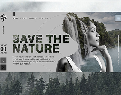 """Concept of the site nature protection """"Save the nature"""""""