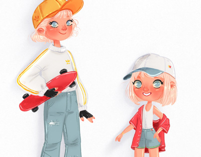 Street style - Sisters Character Design